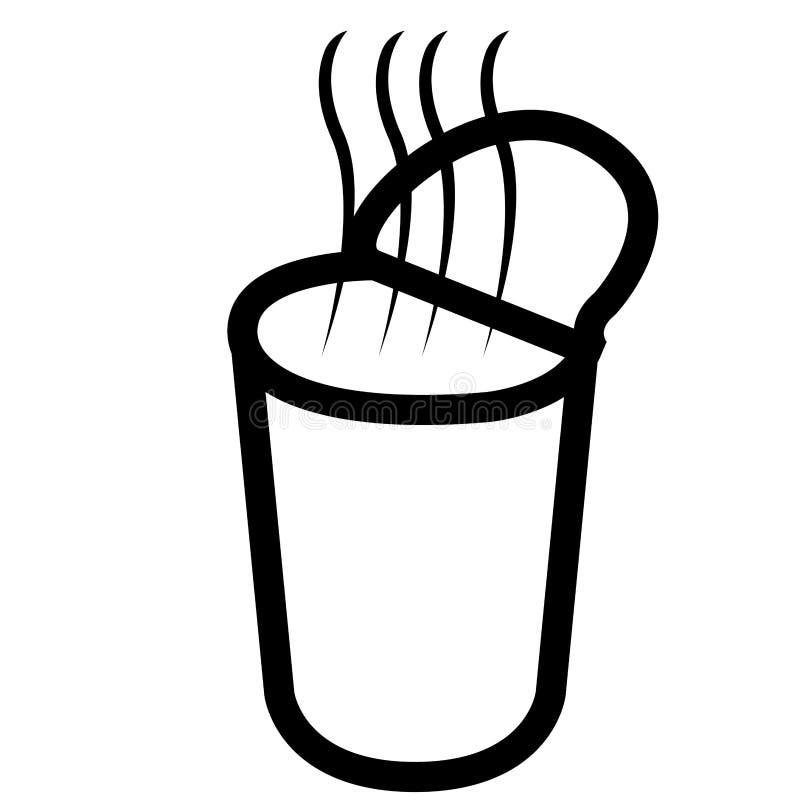 Icône instantanée de soupe illustration stock