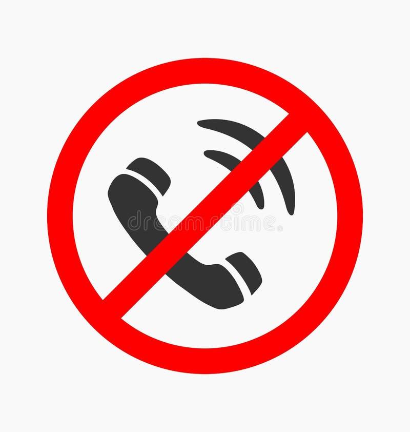 Icône interdite de vecteur d'appel illustration stock