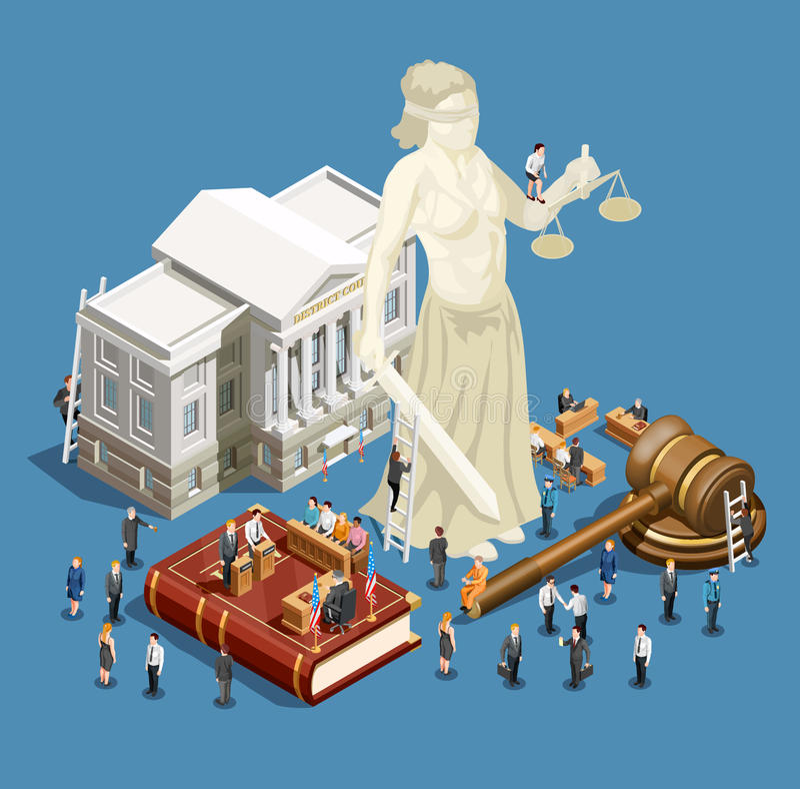 Icône isométrique de loi illustration libre de droits