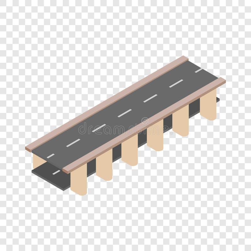 Icône isométrique de route de pont illustration libre de droits