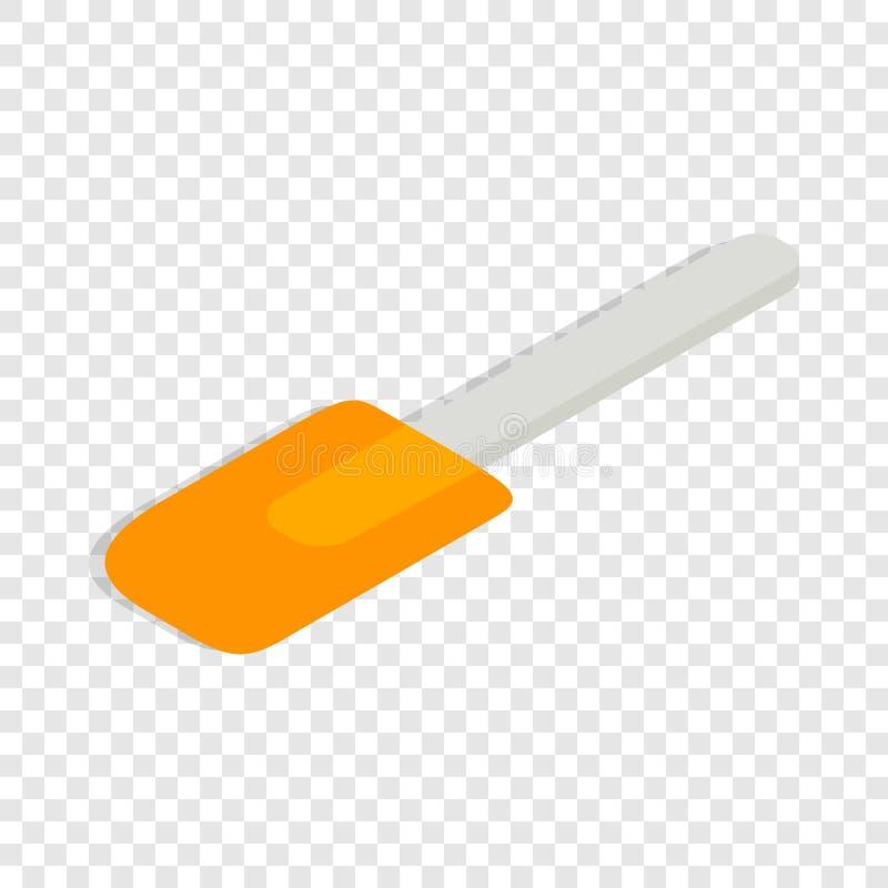Icône isométrique de spatule illustration libre de droits
