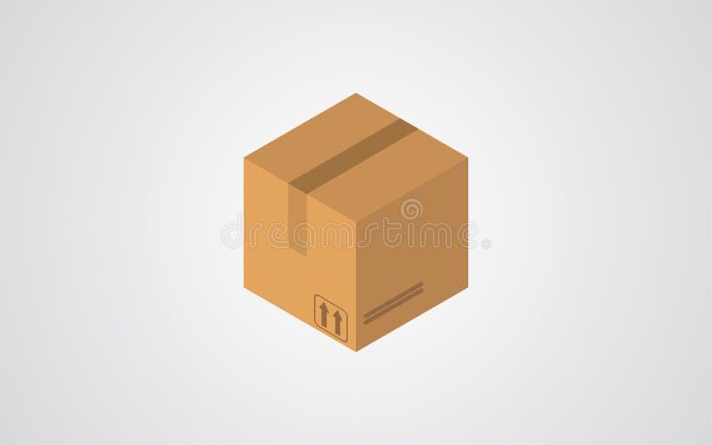 Icône isométrique de vecteur de boîte illustration libre de droits