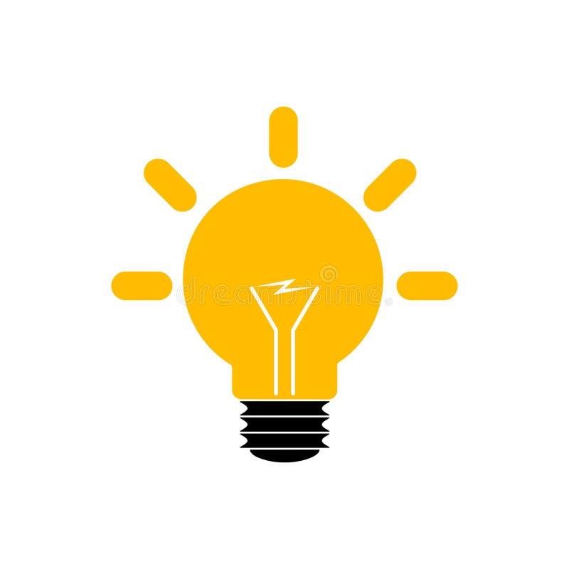 ic ne jaune d 39 ampoule illustration de vecteur illustration stock illustration du ampoule. Black Bedroom Furniture Sets. Home Design Ideas