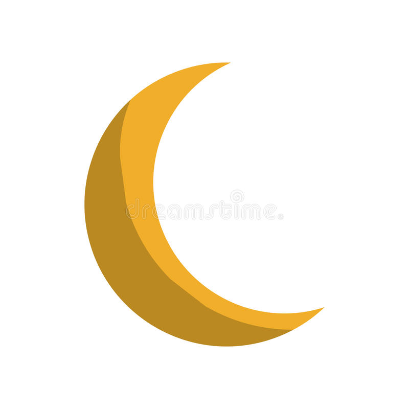 Icône jaune de lune illustration de vecteur