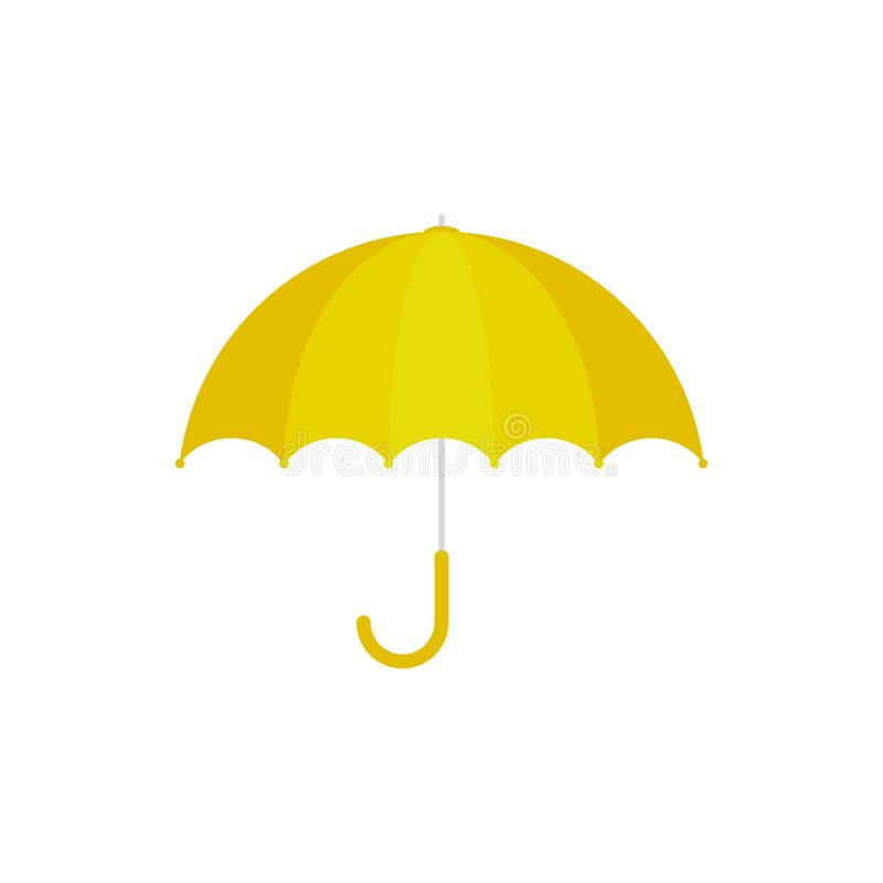 Ic?ne jaune de parapluie Type de dessin anim? illustration stock