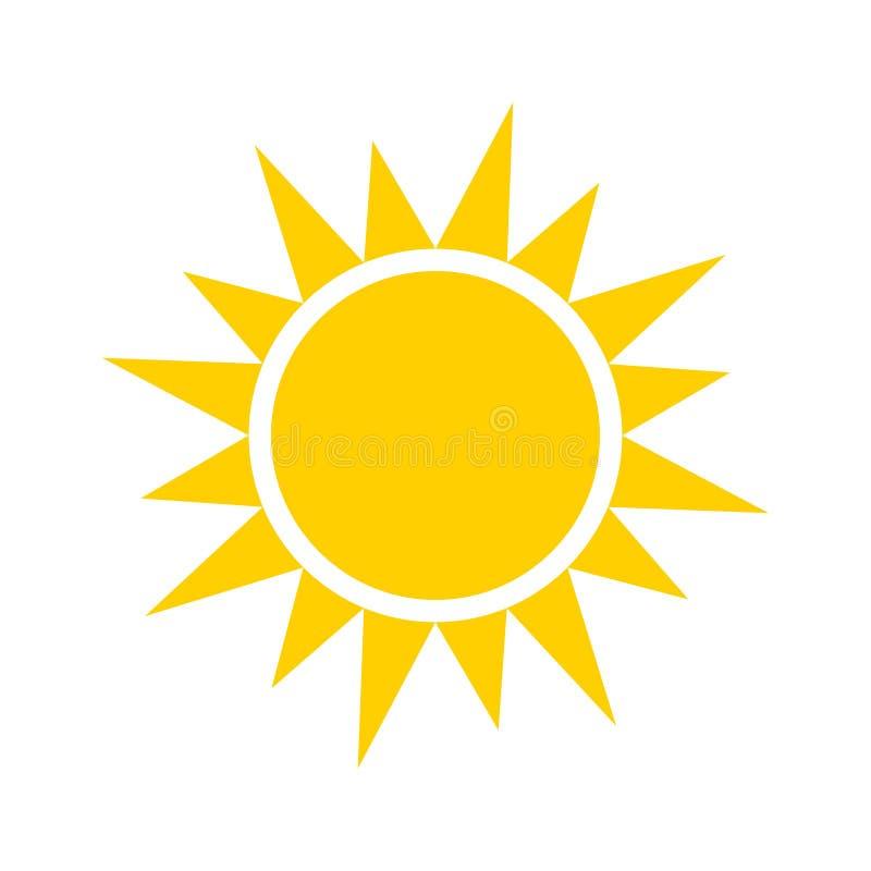 Icône jaune de Sun illustration de vecteur