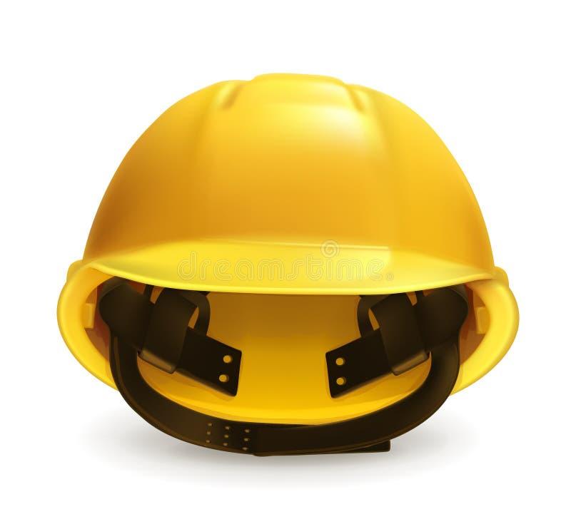 Icône jaune de vecteur de casque antichoc illustration libre de droits