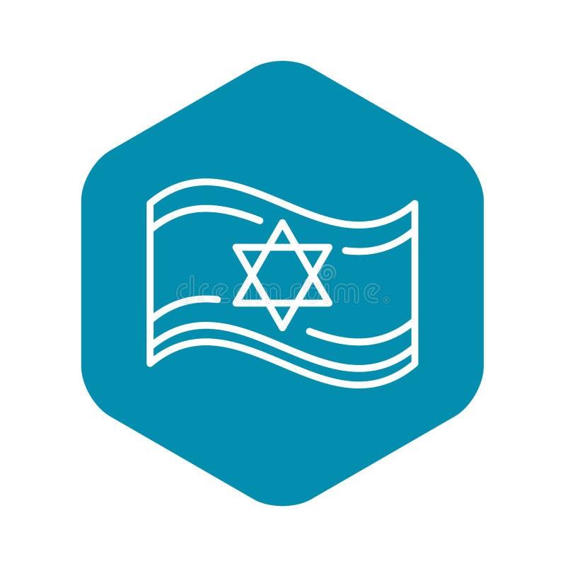 Ic?ne juive de drapeau, style d'ensemble illustration stock