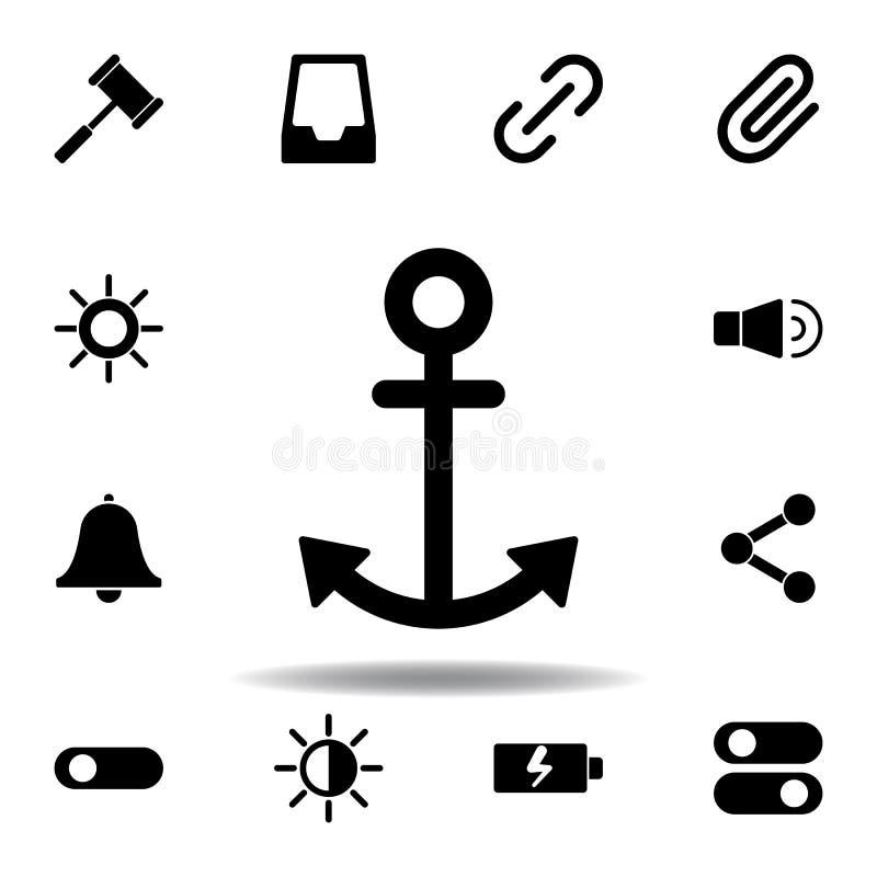 Ic?ne juridique de marteau Des signes et les symboles peuvent ?tre employ?s pour le Web, logo, l'appli mobile, UI, UX illustration libre de droits