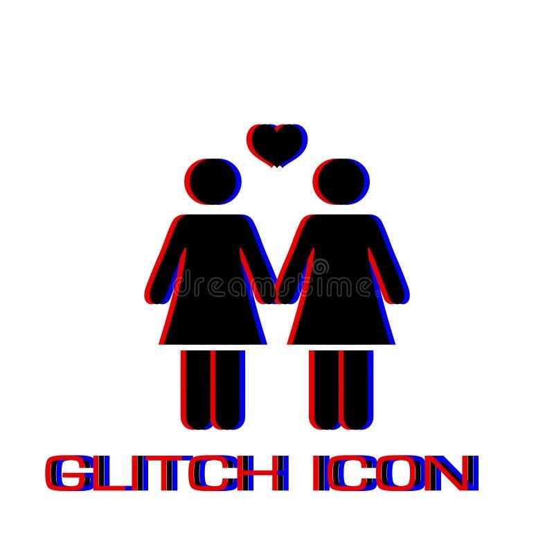 Ic?ne lesbienne plate illustration libre de droits