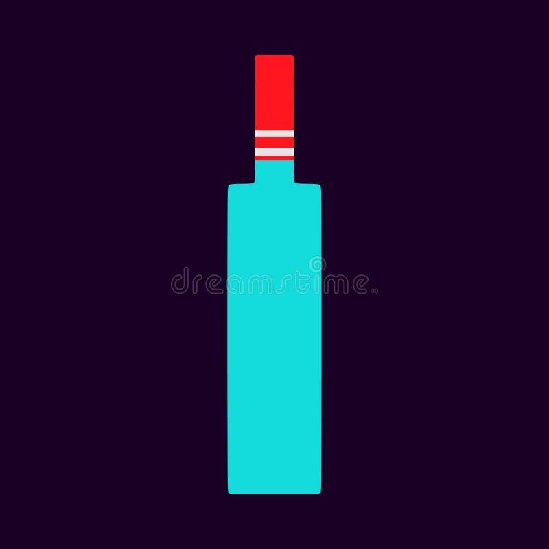 Ic?ne liquide de symbole de vecteur de plan rapproch? d'alcool de bar de bouteille de vodka Magasin de boissons de produit en ver illustration stock