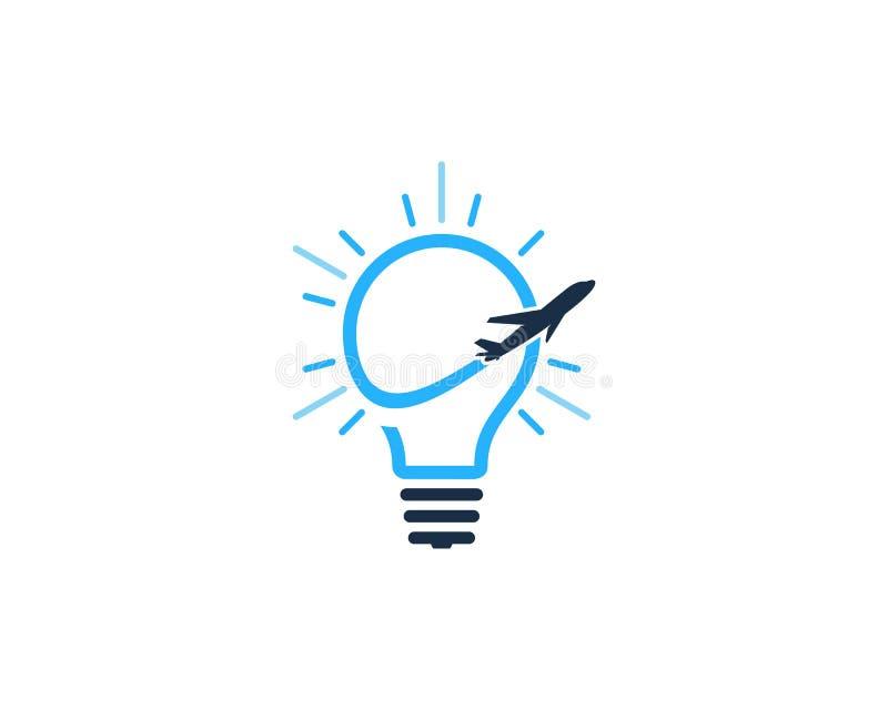 Icône Logo Design Element d'idée de voyage illustration libre de droits