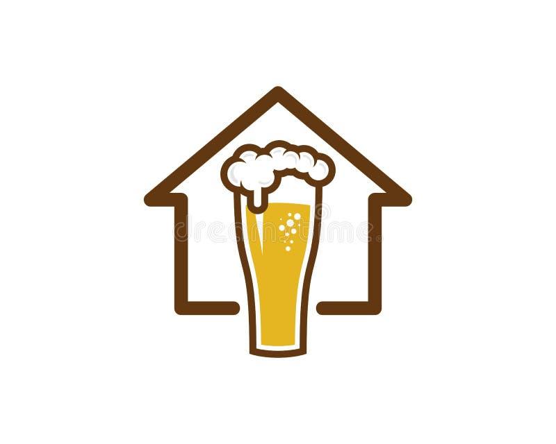 Icône Logo Design Element d'ours de maison de Chambre illustration stock