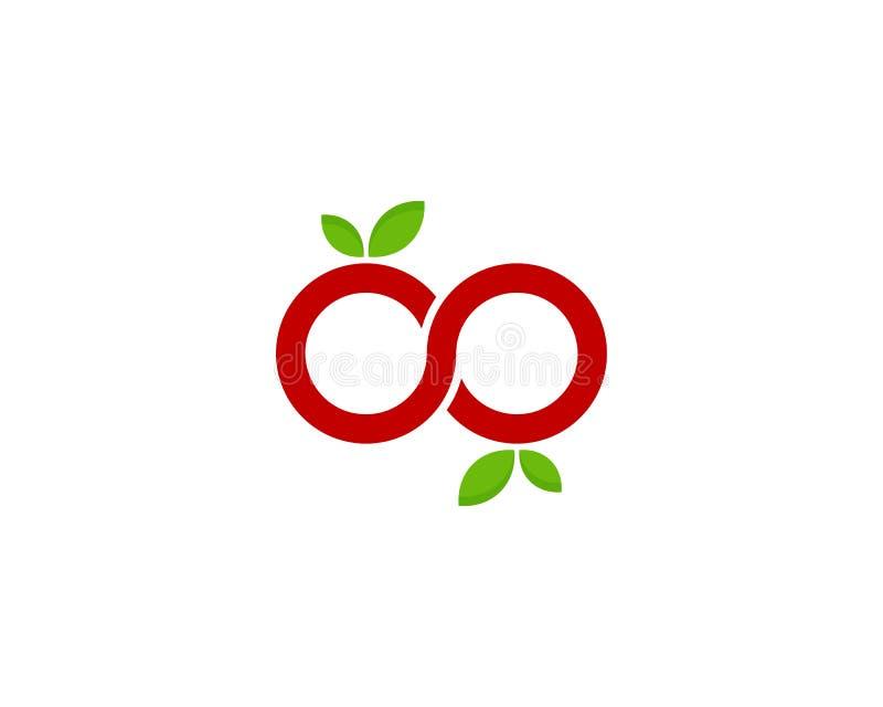 Icône Logo Design Element de fruit d'infini illustration libre de droits