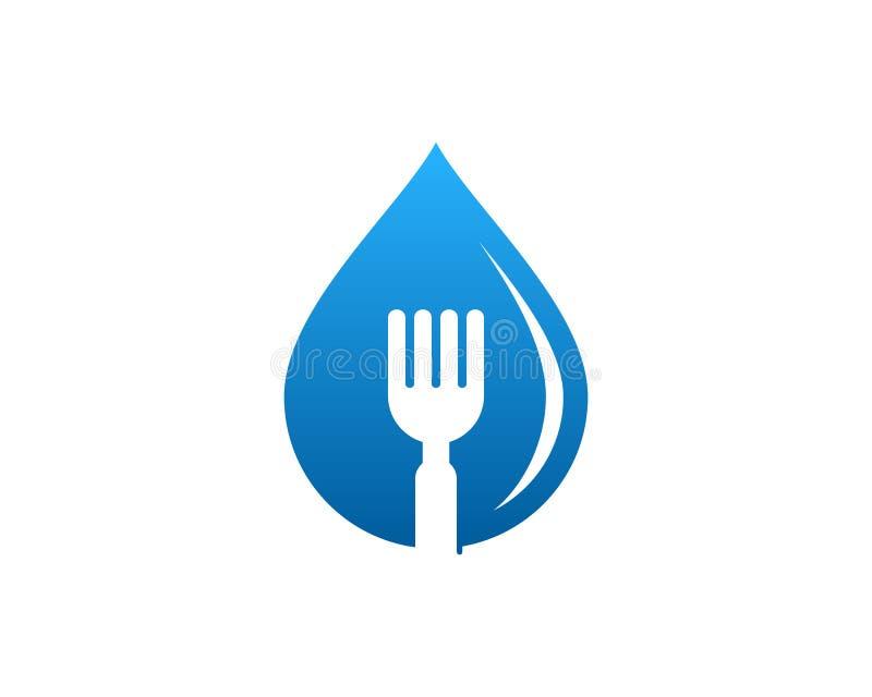 Icône Logo Design Element de nourriture de l'eau illustration stock