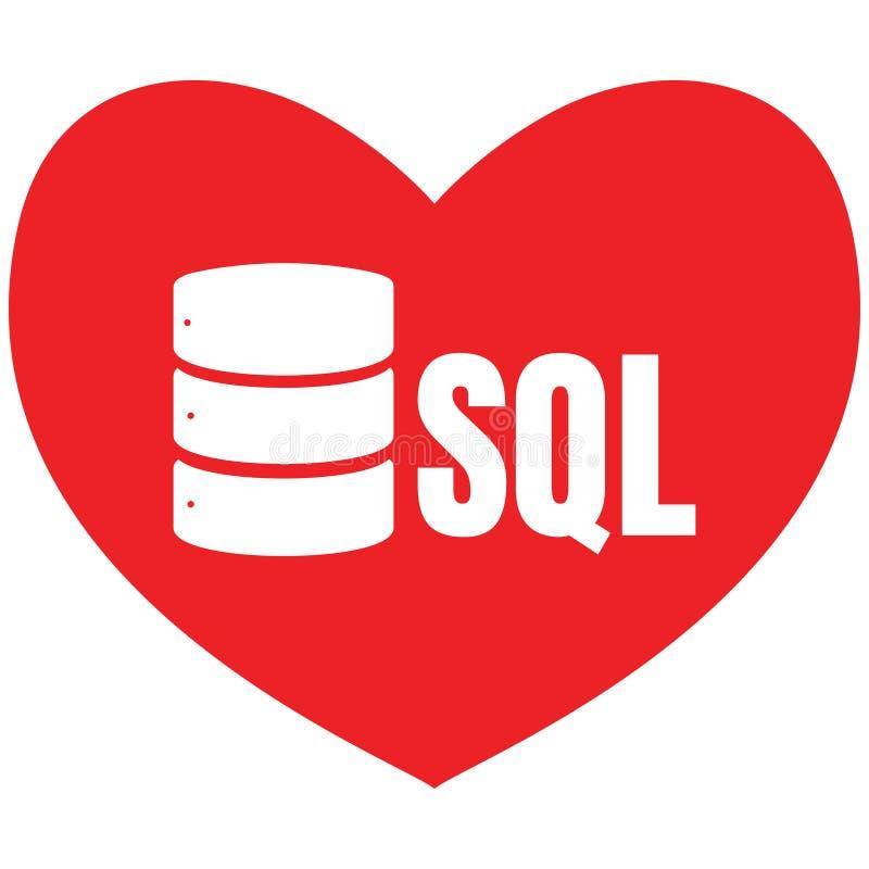 Icône Logo Design UI ou UX APP de base de données de SQL illustration de vecteur