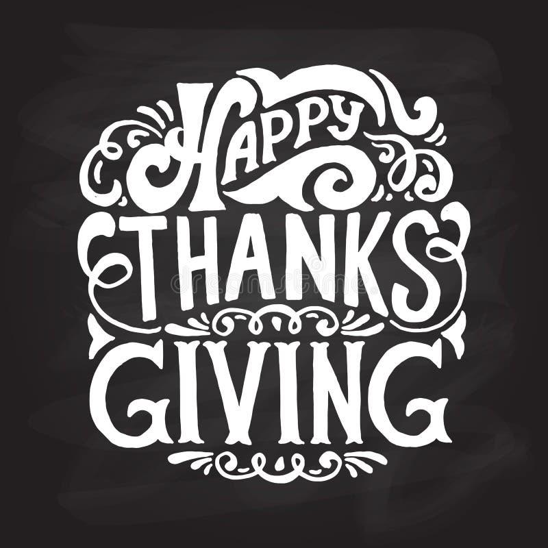 Icône, logo ou insigne heureux de thanksgiving illustration libre de droits
