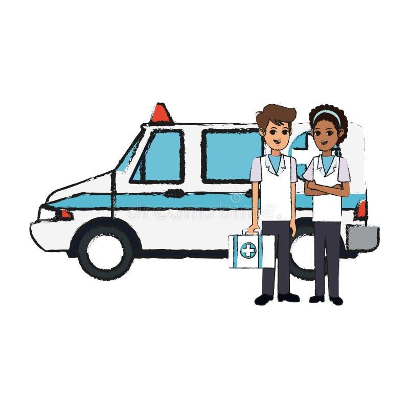 Icône médicale d'ambulance illustration libre de droits