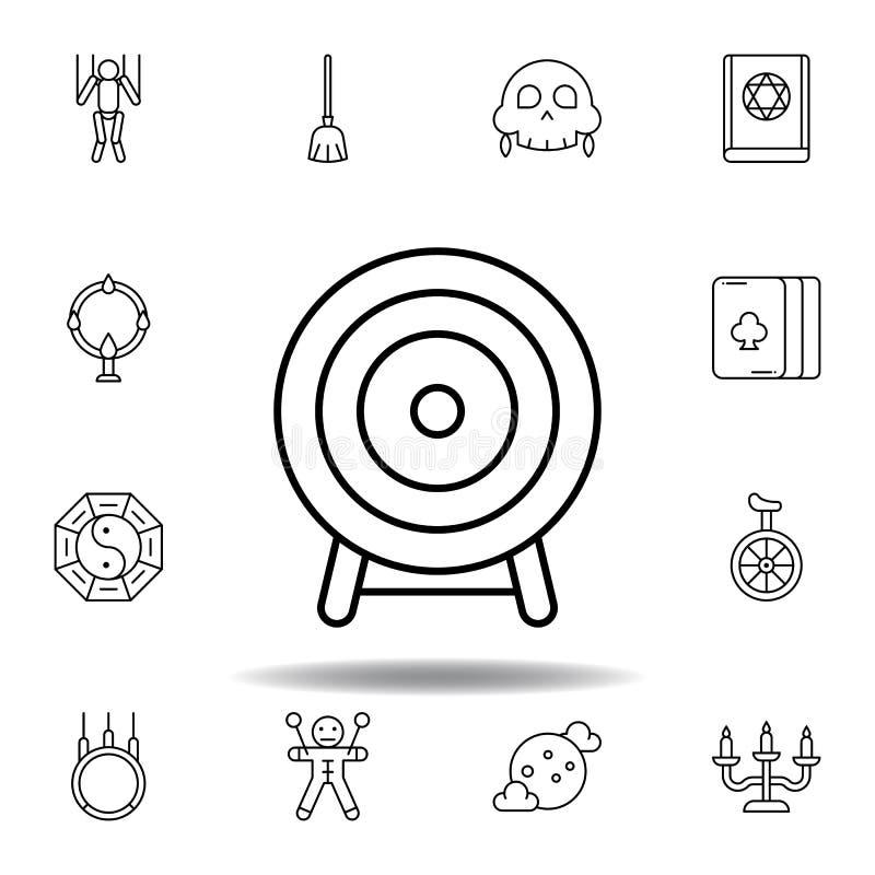 Ic?ne magique d'ensemble de cible éléments de ligne magique icône d'illustration des signes, symboles peuvent être employés pour  illustration de vecteur