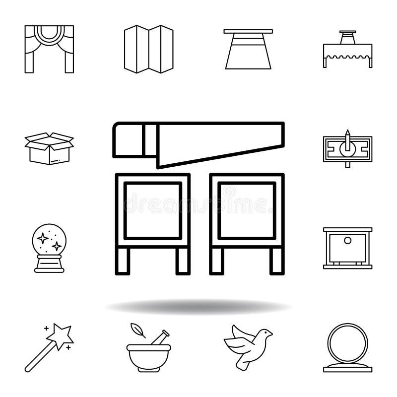 Ic?ne magique d'ensemble de scie éléments de ligne magique icône d'illustration des signes, symboles peuvent être employés pour l illustration stock
