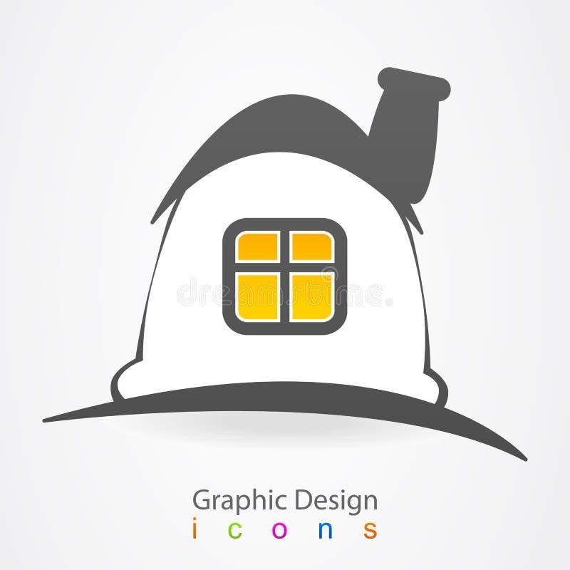 Icône magique de logo de maison de conception graphique illustration libre de droits