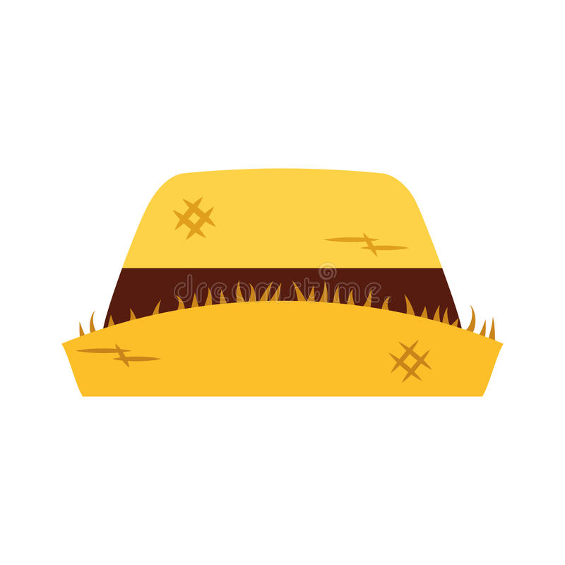 Icône masculine de chapeau d'agriculteur illustration de vecteur