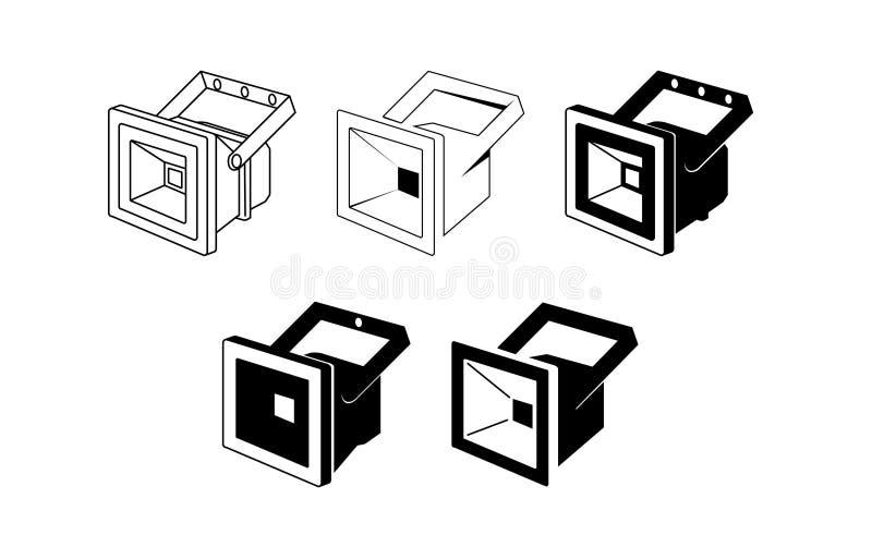 Icône menée de projecteur - illustration de vecteur illustration stock