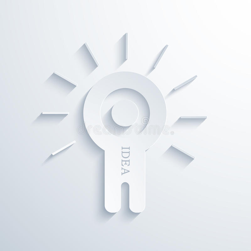 Icône moderne d'idée de concept de vecteur illustration libre de droits