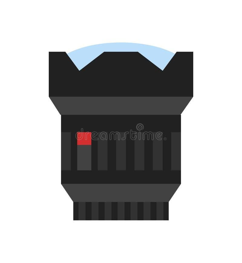 Icône moderne de vecteur de lentille de photo d'appareil-photo illustration libre de droits