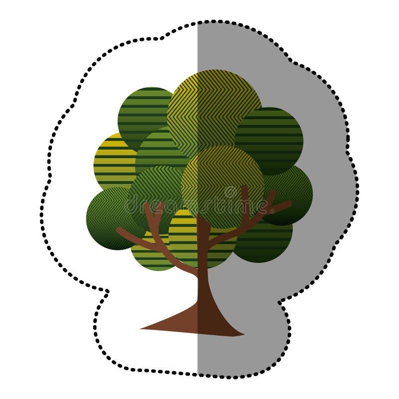Download Icône Naturelle D'arbre De Timbre Illustration Stock - Illustration du plat, lame: 87705403