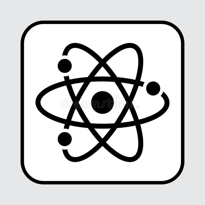 Ic?ne noire d'atome Illustration de vecteur illustration stock