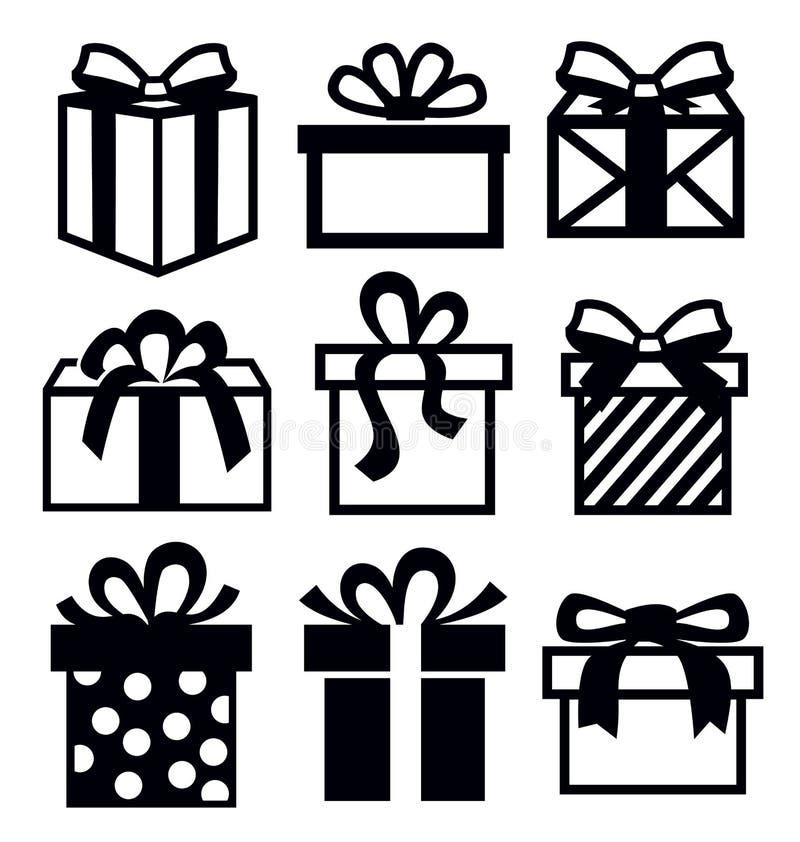 Icône de cadeau illustration de vecteur