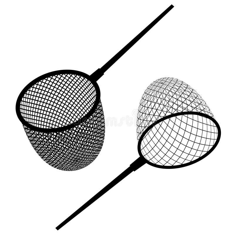 Icône noire de filet de pêche illustration de vecteur