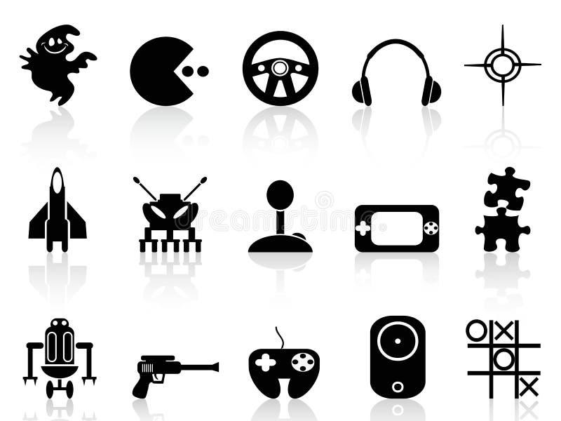 Icône noire de jeu d'ordinateur illustration libre de droits