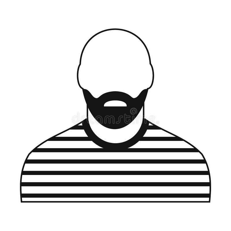 Icône noire de prisonnier illustration de vecteur