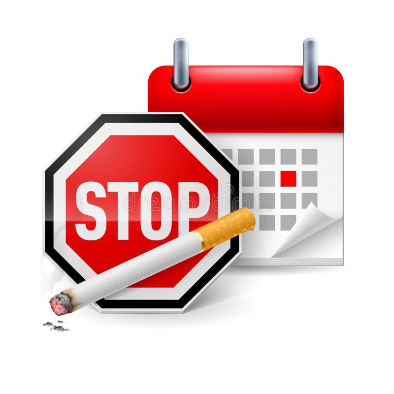 Icône non-fumeurs de jour illustration libre de droits