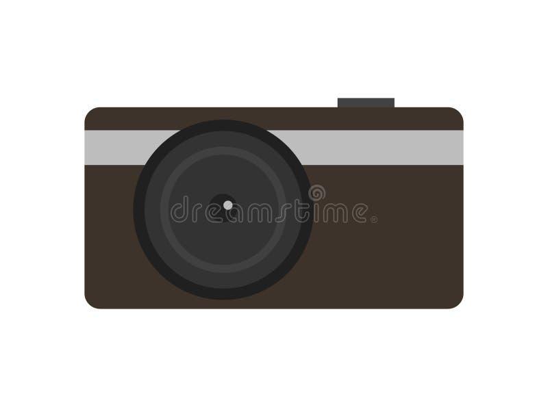 Icône numérique compacte moderne de vecteur d'appareil-photo de photo illustration de vecteur