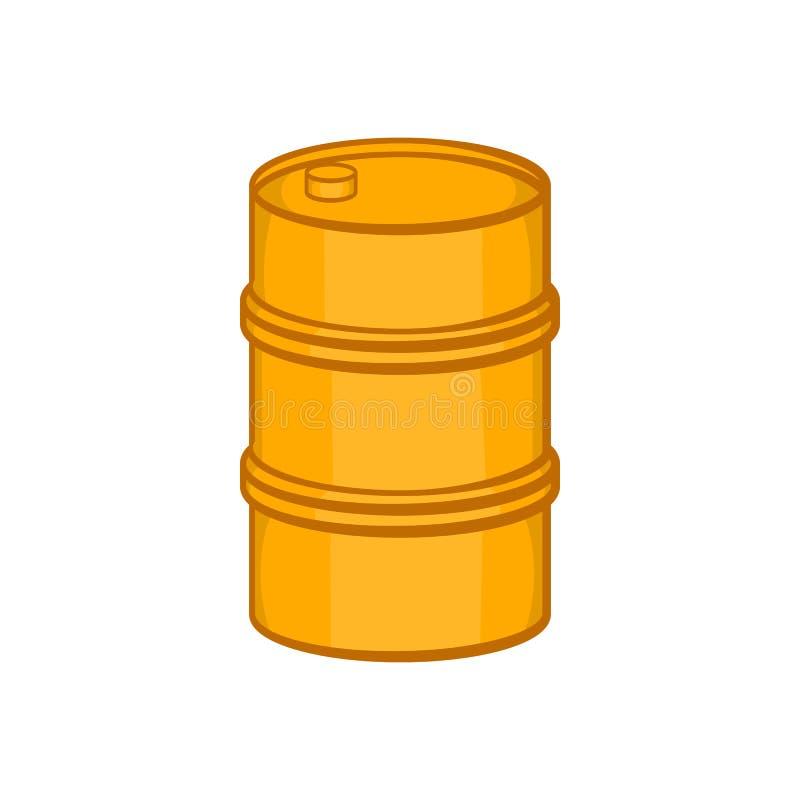Icône orange de baril, style de bande dessinée illustration stock