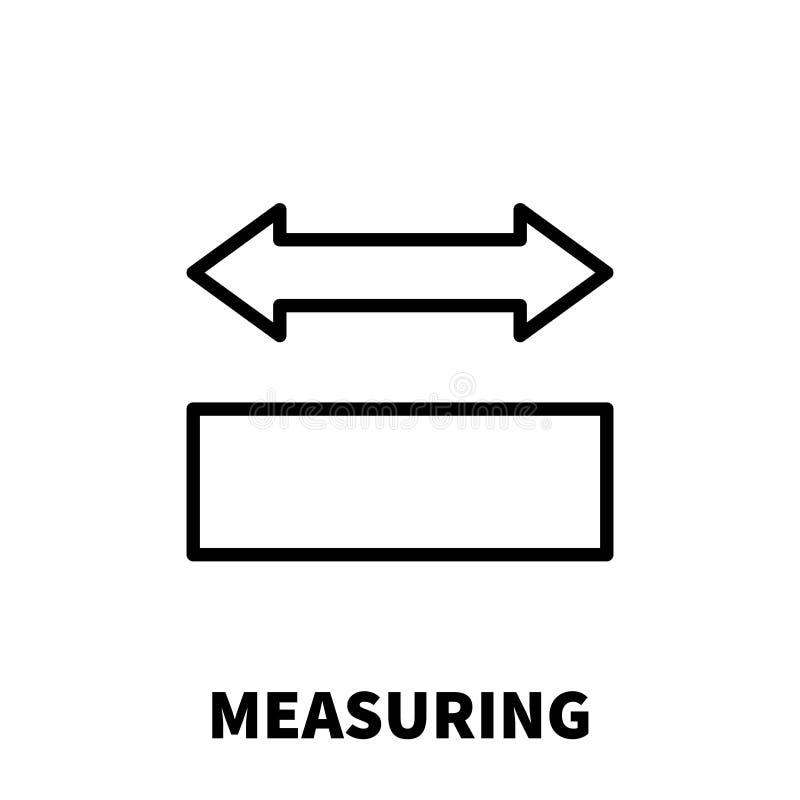 Icône ou logo de mesure dans la ligne style moderne illustration libre de droits