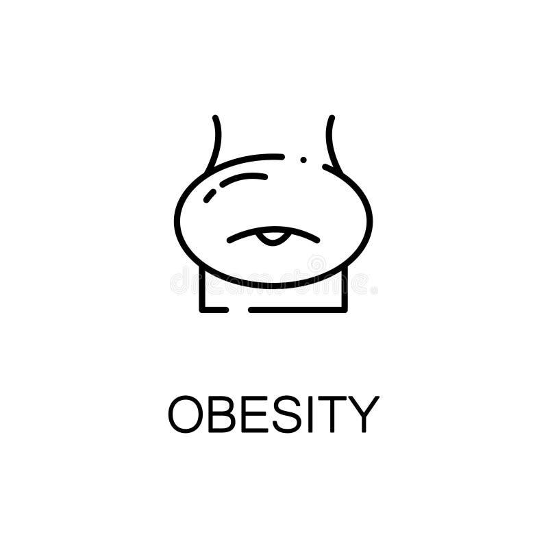 Icône ou logo plate d'obésité pour le web design illustration stock