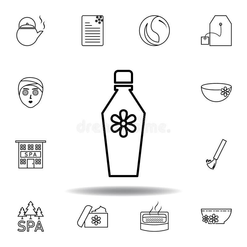Ic?ne parfum?e d'ensemble de cologne ou de parfum Ensemble détaillé de station thermale et détendre l'icône d'illustrations Peut  illustration stock