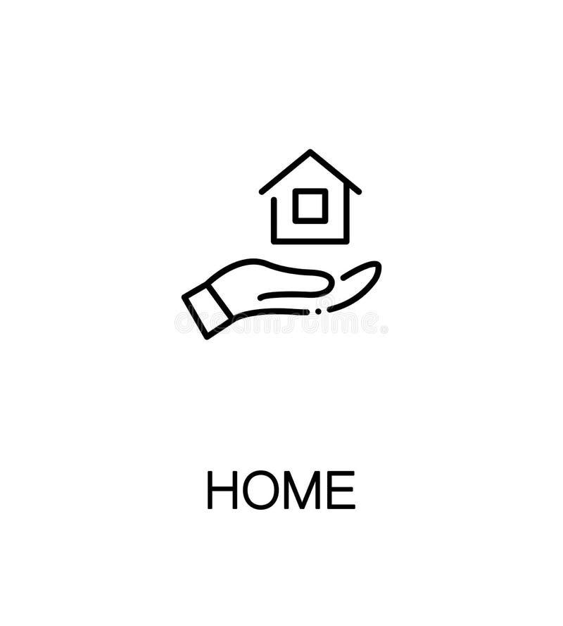 Icône plate à la maison illustration libre de droits