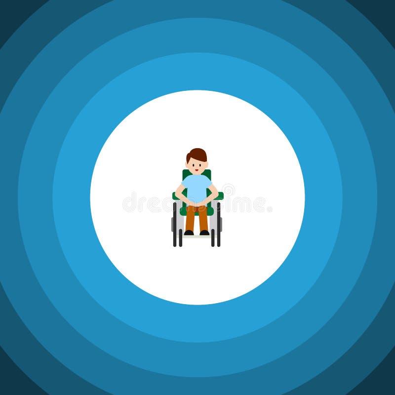 Icône plate accessible d'isolement Person Vector Element Can Be handicapé utilisé pour handicapé, homme, concept de construction  illustration de vecteur