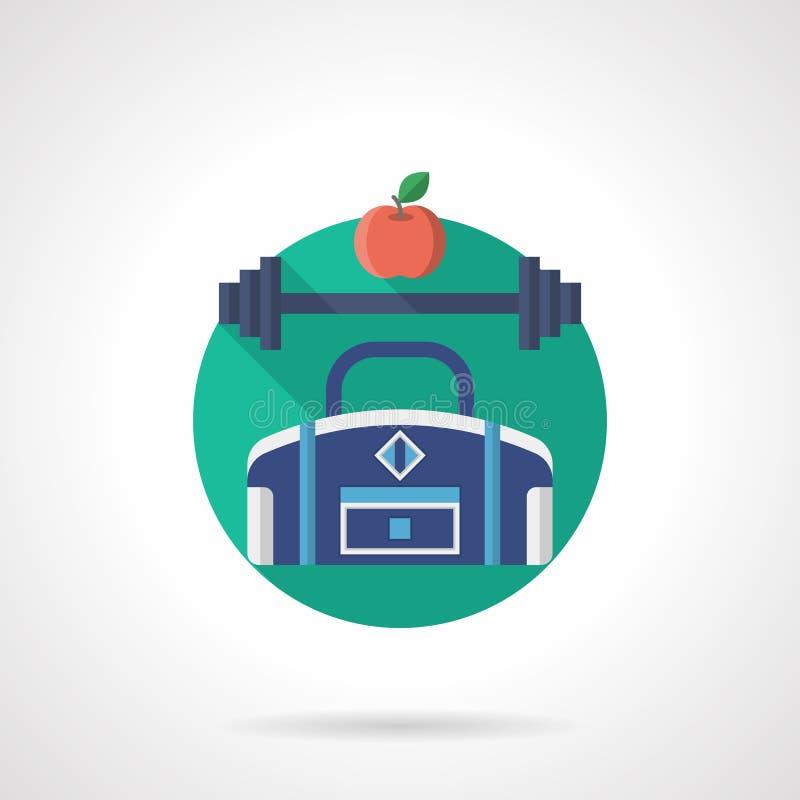 Icône plate détaillée de couleur de gymnase illustration de vecteur