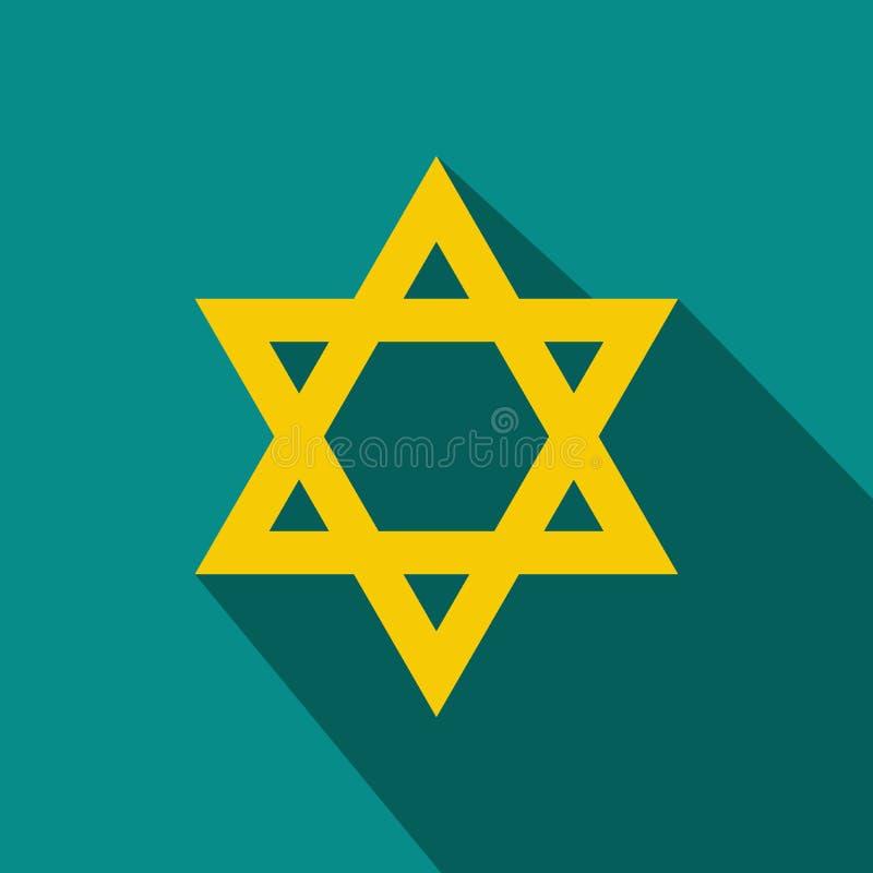 Icône plate d'étoile de David illustration libre de droits