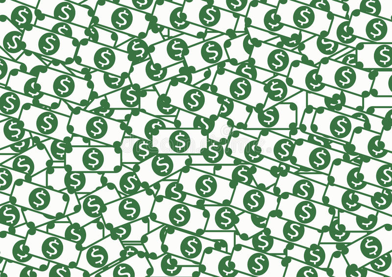 Icône plate d'affaires de l'icône EPS10 d'argent illustration de vecteur