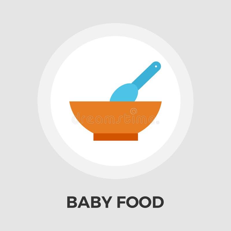 Icône plate d'aliment pour bébé illustration libre de droits