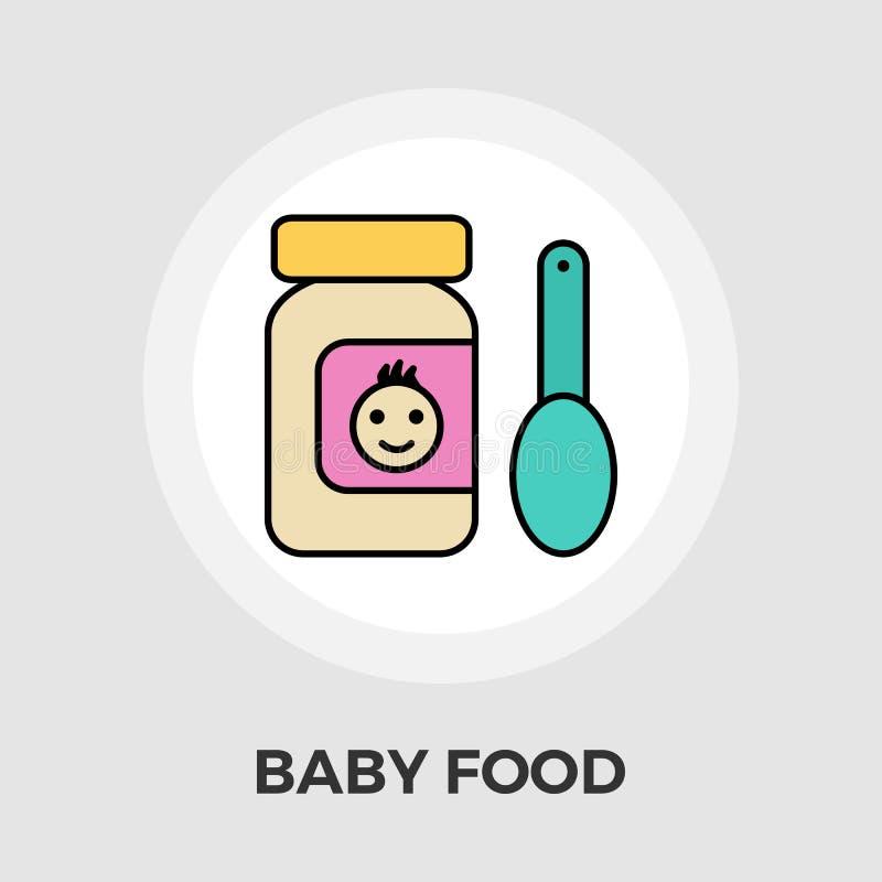 Icône plate d'aliment pour bébé illustration de vecteur