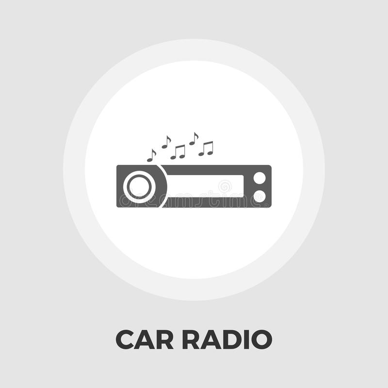 Icône plate d'autoradio illustration de vecteur
