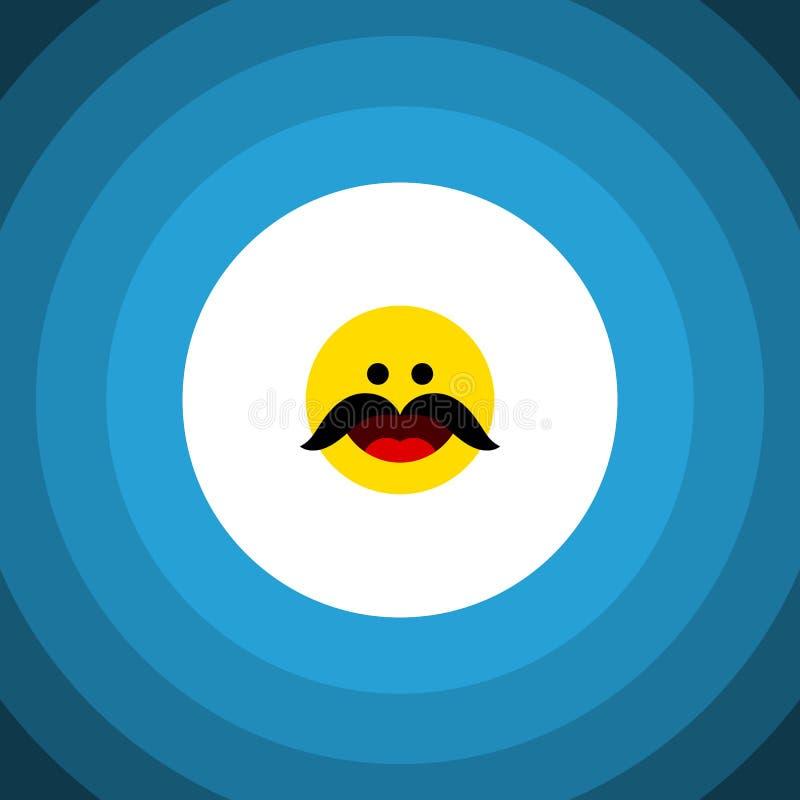 Icône plate d'isolement de favoris L'élément gai de vecteur peut être employé pour gai, favoris, concept de construction d'Emoji illustration libre de droits